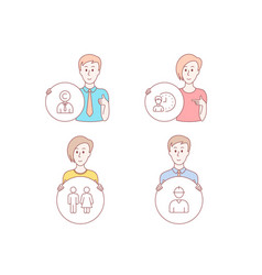 restroom working hours and copyrighter icons vector image