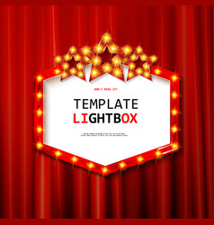 Retro banner with bulbs for your projects vector