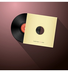 Retro vinyl record disc in paper cover vector