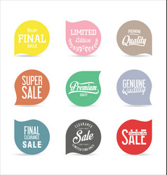 sale price tag modern design collection 10 vector image