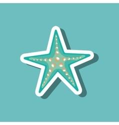 sea star blue beach design vector image