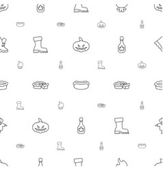 Seasonal icons pattern seamless white background vector
