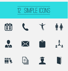 Set of simple resources icons vector
