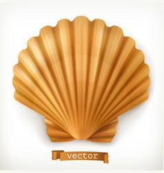 Shell 3d icon vector