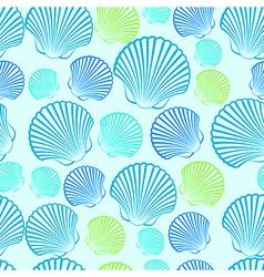Shells seamless3 vector image