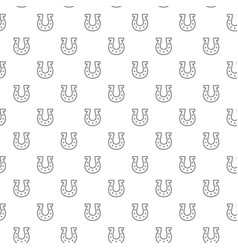 Simple horseshoe seamless pattern with various vector