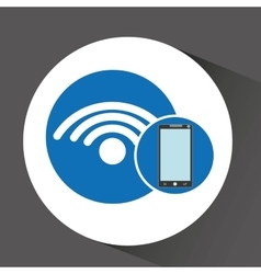 smartphone programming web connected wifi vector image