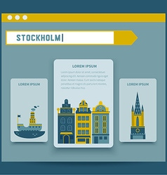 Stockholm set of elements for design vector