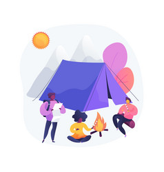 summer camp for kids abstract concept vector image