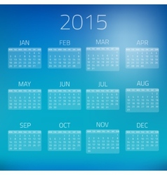 Summer Gloss Calendar 2015 background vector