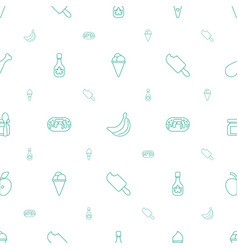 tasty icons pattern seamless white background vector image