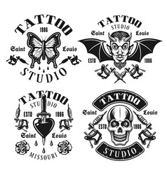 Tattoo studio emblems or t shirt prints vector