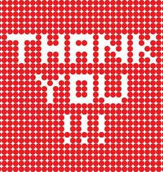thank you dots vector image