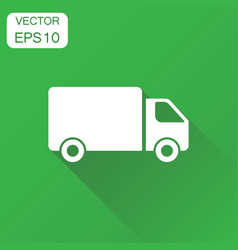 truck car icon business concept fast delivery vector image
