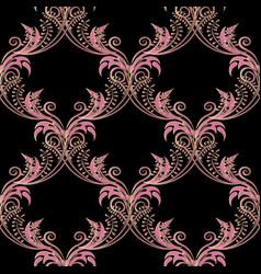 vintage floral arabesque seamless pattern vector image