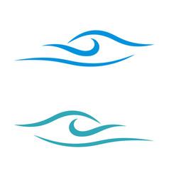 wave swoosh logo template design eps 10 vector image