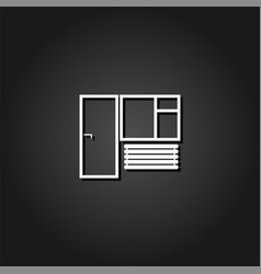 window and door icon flat vector image