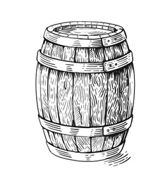 Wood barrel vector