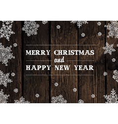 xmas design on hardwood planks vector image