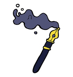 comic cartoon fountain pen vector image
