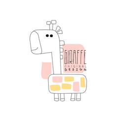 giraffe logo template original design cute vector image