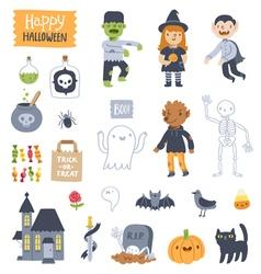 Halloween super set vector image vector image