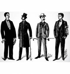 retro rich men vector image