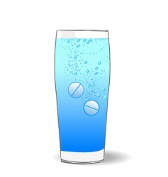 two tablets in water vector image vector image
