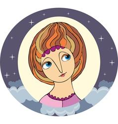 Girl Portret Circle vector image