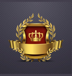 royal heraldic victorian style emblem vector image