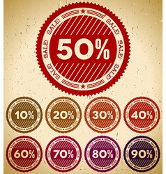 Set of retro sale stamps vector image vector image