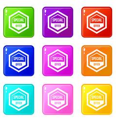 Special offer pentagon set 9 vector