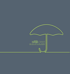 Abstract background with open umbrella vector image vector image