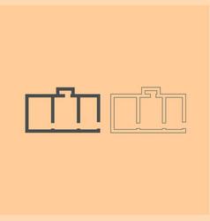 apartment plan dark grey set icon vector image vector image