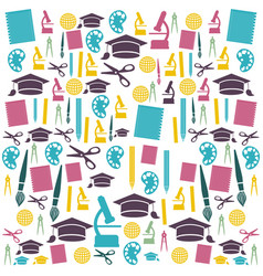 education color icons set vector image