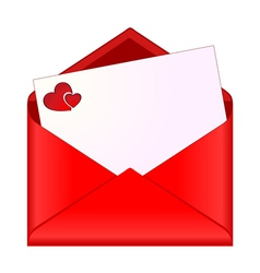 Open envelope with romantic stationery vector image