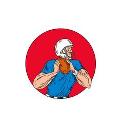american football quarterback ready throw ball vector image vector image