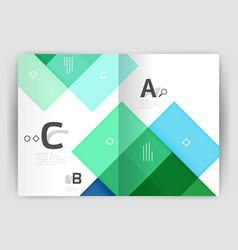geometrical brochure a4 business template vector image vector image