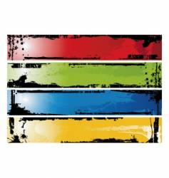 grunge strips vector image vector image