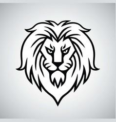 lion head logo template design vector image