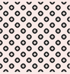 seamless pattern geometric flowers in circles vector image vector image