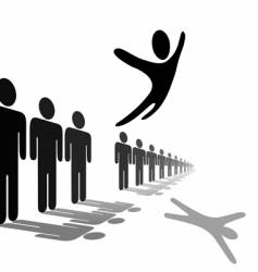 symbol person leaps out vector image