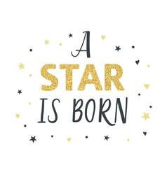 A star is born nursery vector