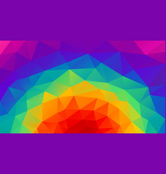 Abstract irregular polygonal background rainbow vector