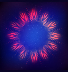 Abstract shining cosmic star vector