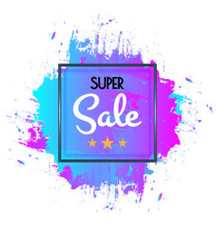 abstract super sale poster sale banner template vector image