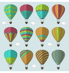 Air Balloons set vector image