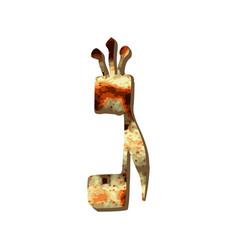 Alphabet hebrew passover matza hebrew letter gimel vector