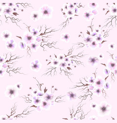 anemones seamless pattern a bouquet of delicate vector image