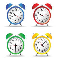 beauty clock vector image